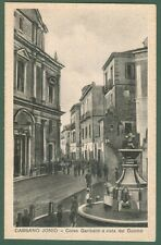 Calabria. CASSANO IONIO, Cosenza. Duomo e Corso Garibaldi. Cartolina viagg. 1933