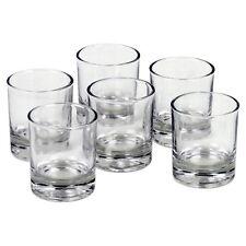 6 verres pour bougies votives - Photophores