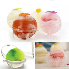 KE_ KQ_ KM_ ALS_ 4X Round Ball DIY Whiskey Cocktail Ice Cube Mold Cream Mould