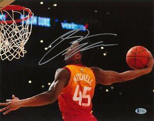 Donovan Mitchell Hand Signed 11x14 Photo BAS COA Autograph Utah Jazz