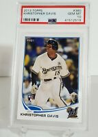 2013 TOPPS #360 KHRISTOPHER DAVIS ROOKIE  PSA 10 GEM MINT!! Brewers RC LOGO!