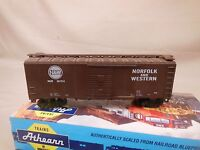 HO SCALE ATHEARN BLUE BOX KIT BUILT 40' BOX CAR NORFOLK & WESTERN (2/2)