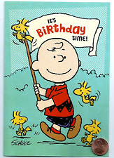 PEANUTS Charlie Brown Woodstock Birds - Religious Birthday Greeting Card - NEW