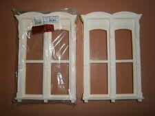 "Dollshouse Miniature 1/12"" Set of Two Lawbre Double Hooded Windows Tall Set 1"