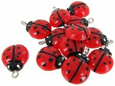 20 pcs Red Lucky Ladybug Flatback 17 x 14 mm New Scrapbook DIY Making