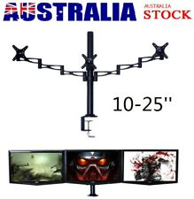 """10-25"""" 3 Arms Flat Panels Bracket HD TV LED LCD Monitor Display Stand Desk Mount"""