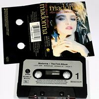MADONNA THE FIRST ALBUM 1983 CASSETTE TAPE ALBUM POP DANCE LUCKY STAR HOLIDAY