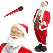 Papá Noel 1,50m M grande CANTANDO BAILANDO + Karaoke Música lifesize 150cm XXL