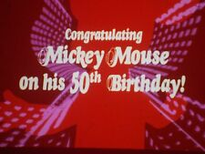 "35mm Cartoon/Animated Snipe ""MICKEY'S 50TH BIRTHDAY"""