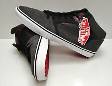 Vans Ellis Mid Red Stitch Charcoal Black VN-0JWV832 Men's Size 13
