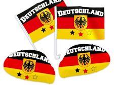 4 tlg. Deutschland DE02 WM Fanset Fan-Paket Autoflaggen Spiegelüberzug Autofahne