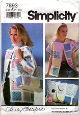 1992 UNCUT Simplicity Sewing Pattern 7893 Misses' Quilted Jacket, Bolero, Vest +