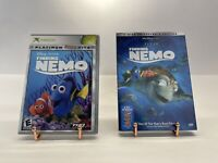 Disney Finding Nemo X BOX Game + Finding Nemo 2 Disc Collectors Edition DvD Mint