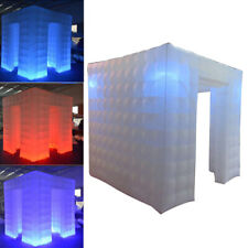 Inflatable LED Photo Booth Cube Tent - Weddings, Birthdays, Events, 2.25M, White