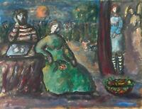 Gouache Henriete BARETY (1934-2017) - Chagall - La provence