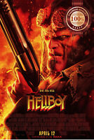 NEW HELLBOY FACE 2019 OFFICIAL ORIGINAL CINEMA FILM MOVIE PRINT PREMIUM POSTER