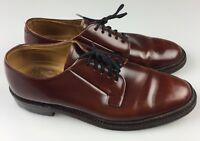 ROYAL TWEED Cheaney England Premium Grade Brown Leather Oxfords Men's 8.5 NARROW