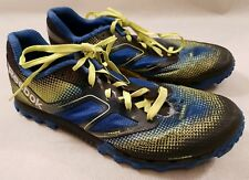 Reebok H2O Drain Fitframe Duragrip Blue Fluorescent Yellow Running Shoes UK 6.5