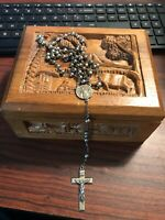 Antique Sterling Silver Rosary Monogrammed