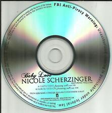 Pussycat Dolls NICOLE SCHERZINGER w/ WILL.I.AM Baby Love EDIT PROMO CD Single