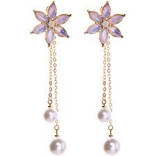 New Fashion Betsey Johnson Alloy Rhinestone Pearl Drop Earring Fashion Jewelry