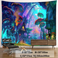 Wall Hanging Mystics Psychedelic Tapestry Mushroom Mandala Beach Towel
