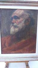 Old portrait Oil on canvas. Ancien portrait huile sur toile PORTRAIT ROMAIN?