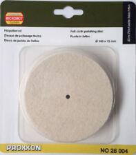Proxxon felt cloth polishing wheel disc 100mm 28004 / Direct from RDGTools