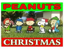 peanuts snoopy combo christmas yard lawn art decorations