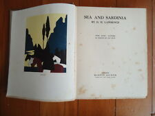 SEA AND SARDINIA by D.H. LAWRENCE EIGHT PICTURES by JAN JUTA 1923 HB 1ST UK edit