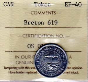 1892 St Leon Mineral Water Co. Quebec, Good for one Glass, Breton 619, ICCS EF40