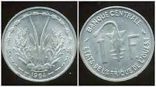 ETATS DE L'AFRIQUE DE L'OUEST  1 franc  1964   SUP +