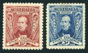 Australia 104-105,MNH.Michel 91-92. Capt Charles Sturt,1930.Murray River.