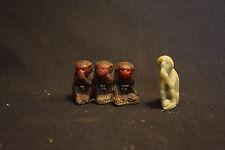 Old Vtg See No Evil Hear No Evil Three Monkeys W/Soap Stone Monkey Praying Toy