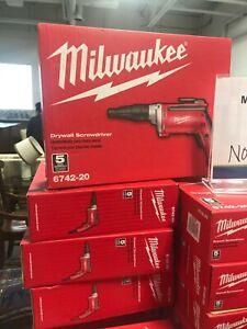 Milwaukee 6742-20 Drywall Screwdriver, RPM 4000, 6.5A, 120 V