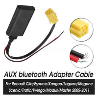 bluetooth Adapter AUX Cable Stereo Radio For Renault Clio Kangoo Megane