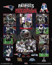 New England Patriots Super Bowl 49 Championship Picture Plaque