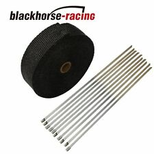 "BLACK PIPE Wrap Exhaust Turbo Heat Manifold Header 2"" x 50FT ROLL VERY HIGH TEMP"
