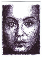 ACEO Art Sketch Card Musician Adele Laurie Blue Adkins