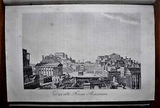 1834:ROMA,Veduta del Vecchio Foro Romano,tra Palatino,Campidoglio..Passepartout.