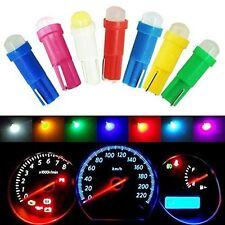 100Pcs Mixed Colors T5 COB Wedge Plate Cluster Gauge LED Dashboard Light Bulbs