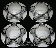 4 Ford F150 Expedition CHROME Wheel Center Hub Caps Rim Covers 5 Lug Nut Hubs