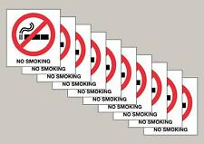 10 No Smoking window stickers double sided Free P&P