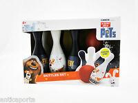 Set Bowling Pets Vie De Animaux Original 6 Quilles + Balle Illumination