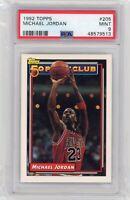 1992 Topps Basketball Michael Jordan #205 PSA 9 MINT Graded Card 50 Point Club