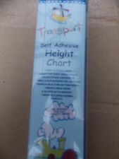 TRANSPORT CARS TRAIN BOAT SELF ADHESIVE HEIGHT CHART matches the BORDER New