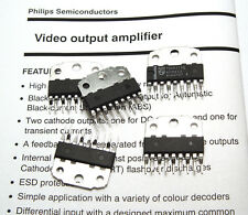 5x IC philips tda6111q/TDA 6111 Q, video output amplifier, 16 mhz amplificatore