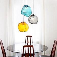 1-Light Mini Colorful Glass Pendant Light Ceiling Fixture Gray Blue Amber