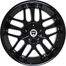 4 GWG Wheels 18 inch Black SAVANTI Rims fit ET40 NISSAN MAXIMA S - SV 2009-2014