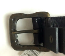 JOHN VARVATOS 100% Leather Black Jeans Belt Men's sz. 32 NWT $138